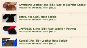 Secondhand Saddles